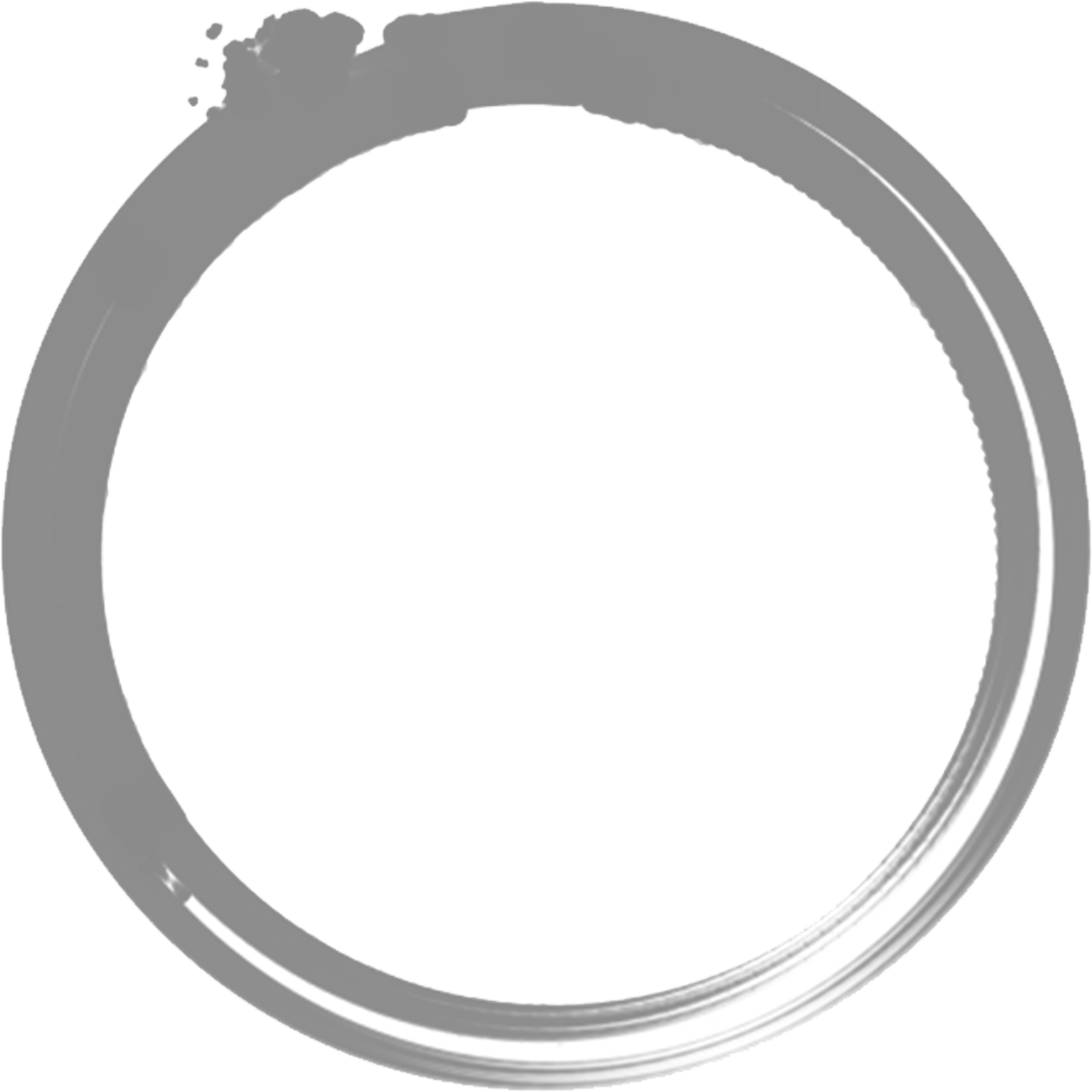 circle written by ink